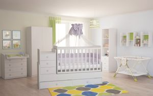 Polini Kids Kinderzimmer Set in wei 4 teilig