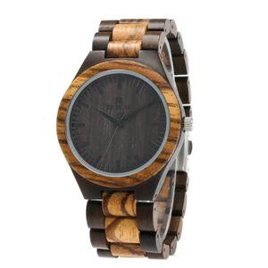 Herrenuhr aus Holz REDEAR Analoge Quarzuhr Sandelholz Material Leichte Freizeituhren Vintage Armbanduhr