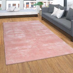 Teppich, Kurzflor-Teppich Für Wohnzimmer, Super Soft, Weich, Waschbar, In Rosa, Grösse:120x170 cm