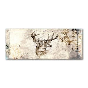 Tulup® Küchenrückwand Spritzschutz aus Glas -125x50 -Spritzschutz auf gehärtetes Glas Deko Tiere Hirsch