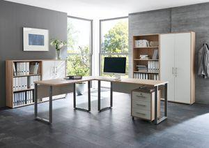 Büromöbel Arbeitszimmer komplett Set OFFICE EDITION (Set 1) in Eiche Sonoma / Weiß