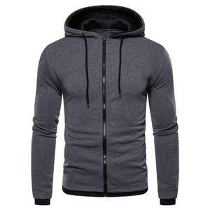 Herren Reißverschluss Spleißknopf Pullover Langarm Kapuzenpullover Tops Bluse Größe:M,Farbe:Dunkelgrau