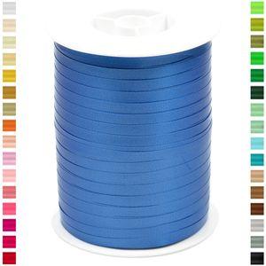 Geschenkband Ringelband 5mm, 500 Meter, Farbe:blau