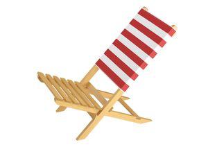 Klappstuhl Strandstuhl Anglerstuhl Gartenstuhl Stuhl zum Zusammenstecken in rot-weiß 10-353