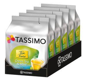 TASSIMO Kapseln Tea Time Grüner Tee mit Minze 5 x 16 Getränke Teekapseln T-Discs