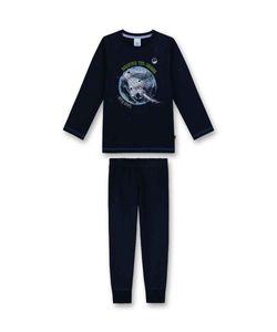 Sanetta Jungen Schlafanzug lang Weltraumrakete blau Gr. 92 - 140 104