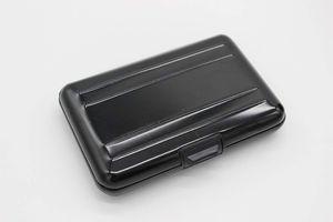 Geldbörse & Karten-Etui aus Aluminium Farbe Schwarz