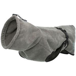 Trixie hundebademantel 40 cm Poly-Baumwolle grau