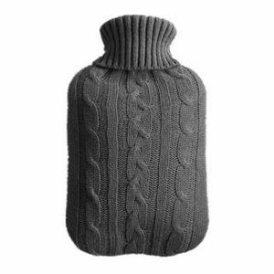 Überbezug für Wärmflasche Bezug Wärmeflasche Strickbezug Wärmkissen Abdeckung 2L