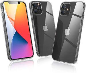 Wisam® Apple iPhone 12 / 12 Pro (6.1) Silikon Case Schutzhülle Hülle Transparent