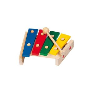 goki 61995 Xylophon mit Tonplatten, mehrfarbig (1 Stück)