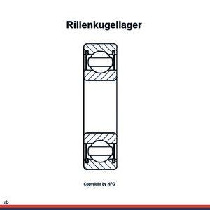 SKF Rillenkugellager 6209 -2RS1