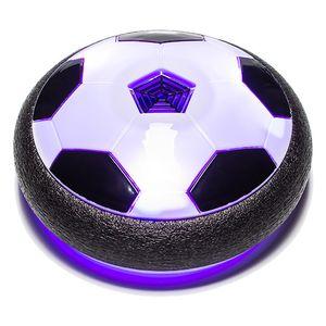 Glyde Ball® - luftgetriebener, schwebender Fußball - integrierte LED-Leuchten, Hoover Ball: Schwebender Luftkissen-Indoor-Fußball mit Möbelschutz und Farb-LEDs, Hallenfußball, LED Beleuchtung Innen & Außen Spielzeug - Geschenk für Kinder - Aus der TV Werbung