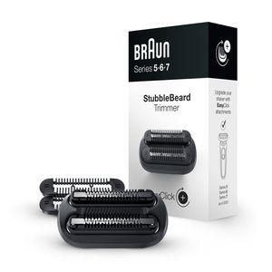 Braun EasyClick 3-Tage-Bart-Trimmeraufsatz für Series 5, 6 und 7 Elektrorasierer (Rasierer Modelle ab 2020)