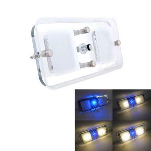 Wohnmobil Wohnwagen Deckenlampe 12V LED Warmweiß/Blau Schalter Innenraumleuchten mit Speicherfunktion