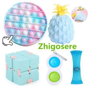 5 Stück / Set Pop it Push Bubble Fidget Antistress Toys Erwachsene Kinder Pop Fidget Sensory Toy