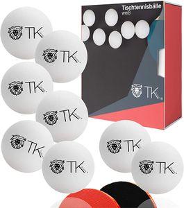 24x Tischtennisbälle Bälle weiß Set 40 mm PingPong für Training & Wettkampf - Tischtennis Indoor & Outdoor