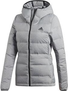adidas TERREX Helionic Kapuzen-Daunenjacke Damen matte grey heather Größe XL