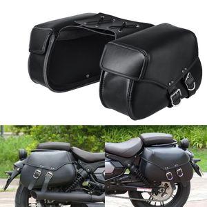 Paar Universal Motorrad Satteltaschen Seiten Gepäcktasche Wasserdicht 47x15x28cm