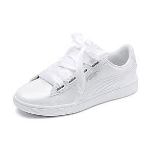 PUMA Damen Sneaker Vikky v2 ribbon Weiß/Silber Schuhe, Größe:40