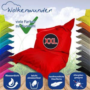 Wolkenwunder Sitzsack Gamersitz Outdoorsessel XXL PVC Schmutzabweisend - Saubequem Kollektion, Farbe:Türkis