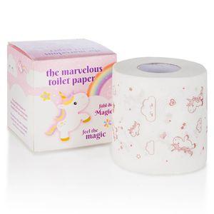 Einhorn Klopapier mit Popcorn Duft - Bedrucktes Toilettenpapier - Unicorn