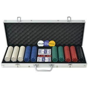 vidaXL Poker Set mit 500 Chips Aluminium