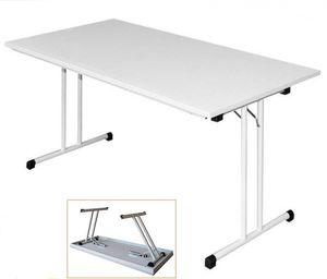 KLAPPTISCH 120x80cm Besprechungstisch Kantinentisch Verkaufstisch Schreibtisch  Lichtgrau/Stahl-Gestell 350490