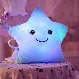 LED Stern Kissen Kissen Leuchtende LED Nachtlicht Stern Form Plüsch Kissen Gefüllte Stofftiere