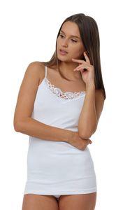 Yenita® Damen Unterhemden 4 Stück, aus Baumwolle 40-42 weiß