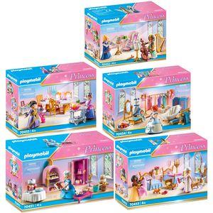 PLAYMOBIL 70451-2-3-4-5 Princess 5er Set Alle Zimm