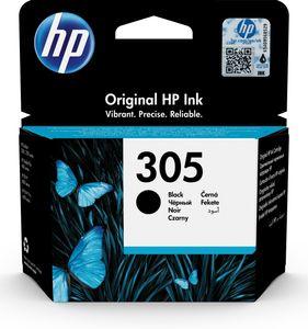 HP 305 Schwarz Original Druckerpatrone, Standardertrag, Tinte auf Pigmentbasis, 2 ml, 120 Seiten, 1 Stück(e), Einzelpackung