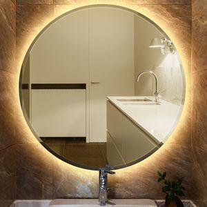 Wandspiegel Rund Badspiegel LED Beleuchtung Spiegel Badezimmerspiegel φ60