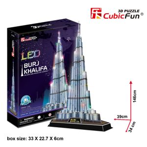 Cubic Fun - 3D Puzzle Burj Khalifa Vereinigte Arabische Emirate mit LED Beleuchtung Groß