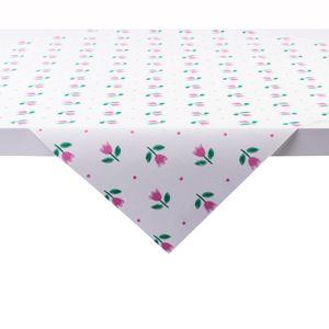 Sovie HOME Tischdecke Tilly aus Linclass® Airlaid 80 x 80 cm, 1 Stück - Einweg Mitteldecke Tulpen Floral