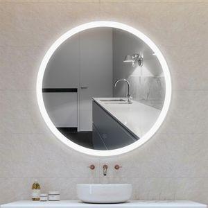 LED RUND Wandspiegel Badspiegel mit Beleuchtung Badezimmerspiegel