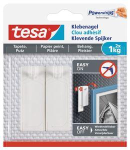 tesa Powerstrips Klebenagel für Tapeten und Putz 1,0 kg