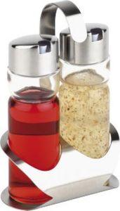 APS Menage PRO 40476 1 Essigbehälter + 1 Ölbehälter mit tropffreien Ausgießer BxTxH: 12 x 8 x 19 cm