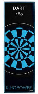 Dart Teppich Target Oche Matte Steeldart Dartpfeile Dartboard Zubehör Dartteppich Darts Abwurflinie Schutz Gummi Boden Dartscheibe Blau 237 x 80 cm Kingpower