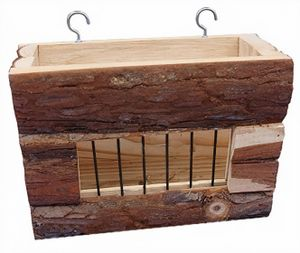 heuraufe Nager 20,5 x 15,5 cm Holz braun