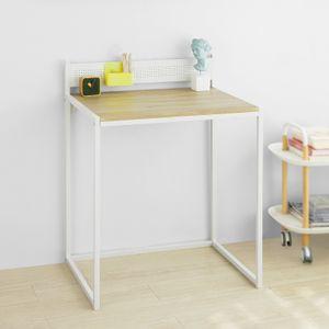 SoBuy FWT66-WN Schreibtisch Computertisch Arbeitstisch Homeoffice Tisch Weiß BHT ca.: 70x90x50cm