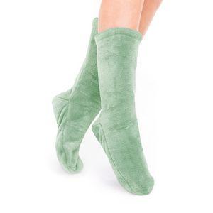 Socken Kuschelsocken Flauschsocken One Size Wintersocken Einheitsgröße Mint