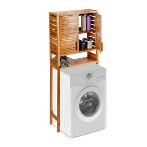 relaxdays Waschmaschinenschrank Bambus