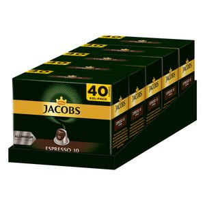 JACOBS Kapseln Espresso Intenso 5 x 40 Nespresso®* kompatible Kaffeekapseln