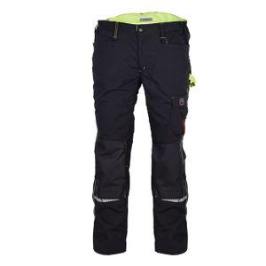 Terrax Workwear Bundhose, Gr. 52, schwarz/limette, 65 % Polyester / 35 % Baumwolle
