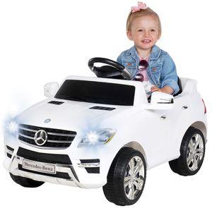 Kinder Elektro Auto Mercedes ML 350 Kinderauto Kinderfahrzeug Elektrofahrzeug (Weiß)