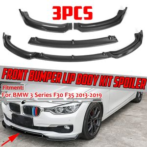 MECO Kohlenstoff Muster Frontspoiler Lippe Frontsplitter für BMW 3ER F30 F35 2013-2019 Schwarz