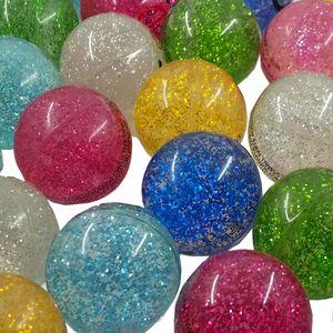 8x Flummi Glitzer Glitter Springball Dopsball 32mm Mitgebsel Kindergeburtstag