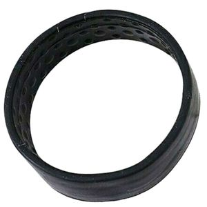 Silikon faltbares festes Haargummiseil elastisches Haargummi Pferdeschwanz Haarband  Schwarz