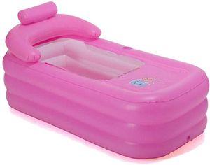 Aufblasbare Badewanne Badewanne Spa Wannen Mobile Dusche Badewanne Faltbar für Zuhause Spa Warm Dusche Schwimmbad  (Rosa)